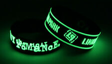 MY CHEMICAL ROMANCE LINKIN PARK M7L7 NEW! 2x Bracelet Wristband Glow in the Dark