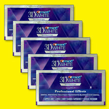 Crest 3D White Luxe Professional Whitening Effects 5 Pouches 10 Strips Free Ship