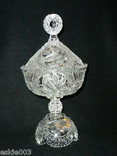 """German HOFBAUER Byrdes Birds Footed Covered Candy Dish 13 1/2"""" Tall"""
