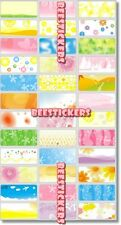 45 PATTERN BACKGROUND Personalised Name Stickers,Labels,Tags,