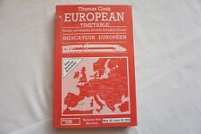 May 1993 Thomas Cook Overseas Continental Timetable Railway Road Services