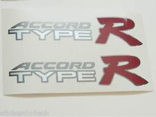 Honda Accord Type R OEM Red x 2 Side Panel Stickers Decals K20 - LIGHT CARS