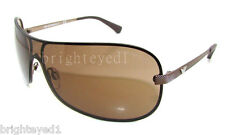 Authentic EMPORIO ARMANI Brown Shield Sunglasses EA 2008 - 302573 *NEW*
