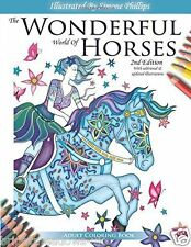 Wonderful Horses 2 Adult Colouring Book Riding Equestrian Paddock Field Gift Art