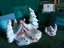 WDCC, Ench Places NESTLED IN THE SNOW, Mini Ornament & Miniature Peter MIB FreeS