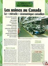 Factory Usine Ford de Saint Thomas Ontario Canada GM  Car Auto FICHE FRANCE