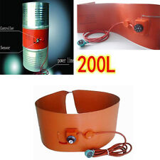 200L/55Gallon 240V 1000W Silicon Band Heater for Metal Oil Drum Heating Useful