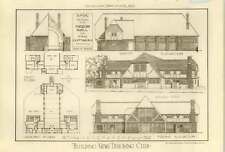 1913 Bndc Design For Parish Hall And Two Cottages Designed By Shylock
