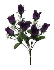 84 Roses ~ REGENCY PURPLE Silk Wedding Flowers Bouquet Centerpieces Bridal Decor