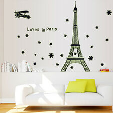 Glow In The Dark Fluorescence Eiffel Tower Removable Wall Sticker Room Art Decal