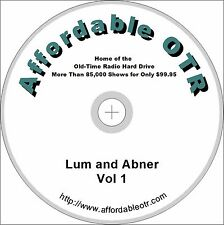 LUM AND ABNER. 1701 OLD TIME RADIO (OTR) SHOWS ON TWO MP3 DVDs
