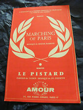 Partition Marching of Paris Barrios Le pistard Jo Courtin Music Sheet 1960