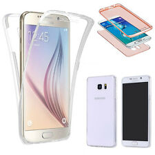FUNDA SAMSUNG GALAXY S6 EDGE SILICONA GEL TPU TRANSPARENTE FULL BODY 360ª