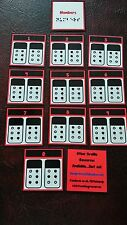BRAILLE FLASH CARDS-  NUMBERS - RAISED DOTS Visually impaired SEN EYFS