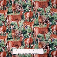 Wild Wings Animal Fabric - CP59983 Cradle Rock Packed Deer - Springs YARD