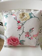 "��Clarke & Clarke Shabby Chic AGATHA Autumn Beige 16"" Cushion Cover��New"