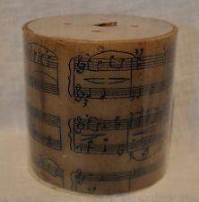 "MUSIC NOTE SHEET MUSIC PILLAR CANDLE 4""X4"""