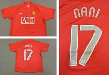 2007-09 nike Manchester United Home Shirt NANI 17 Champions League 2008 SIZE L