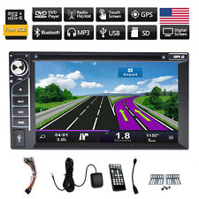 """6.2"""" Car GPS Navigation iPod Radio DVD Player Double DIN Stereo BT Touch"""