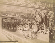 Original Photo Interior Chioin Temple Kioto. Japan C1875