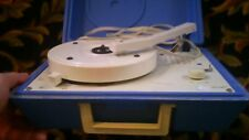 Blue Colored Symphonic Portable Record Player model 439001 vintage 1970's