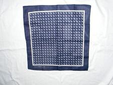 Foulard à cheveux carré coton 54cm retro pinup ancres marines bleu et blanc