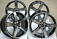 "18"" CRUIZE BLADE BLACK & POLISHED CONCAVE ALLOY WHEELS 5X108 18 INCH ALLOYS"