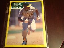 Beckett Baseball Magazine Sept 1990 Issue #66 Rickey Henderson On Cover