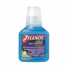 2 Pack - Tylenol Cold Multi-Symptom Severe Daytime Liquid Cool Burst 8oz Each