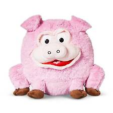 """Pig Play Face Pal Round Plush Throw Pillow (13.3""""x11"""") Pink - Jay@Play NEW"""