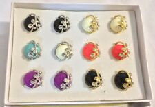 12 rings wholesale jewelry lot vintage  stone fashion rings