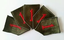 Lot de 5 Patch US 1st INFANTRY DIVISION big red one fabrication après guerre