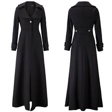Floor Length Coat Women Jackets Long Sleeve Maxi Dress Winter Windbreaker