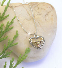 HORSE & WESTERN JEWELLERY JEWELRY LADIES COWGIRL HEART LONGHORN NECKLACE