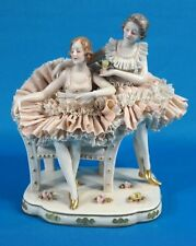 Franz Witter Dresden Porcelain Lace Lady Figures Figurine c.1995 Germany