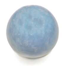 CARVED - ANGELITE 6 oz Crystal Ball (Sphere) with Description Card - Healing