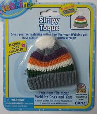 c Stripy Toque ski beanie hat fits most WEBKINZ cat dog pet CLOTHING new code