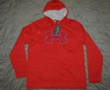 Under Armour Storm Outline Big Logo Fleece Hoodie 1240418 600 Red Size Large NWT