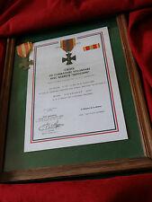"""Légion Étrangère-DIPLÔME MEDAILLE """"CROIX COMBATTANT VOLONTAIRE"""" INDOCHINE-REPRO"""