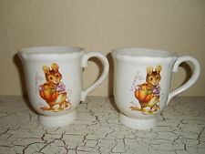 4 MAGENTA Thanksgiving Mouse & Pumpkin Dinnerware Footed Mug Cup PARIS Halloween