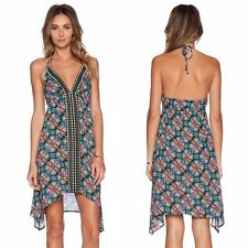 NWT  $160 Sz Large L NANETTE LEPORE Paloma Swim Cover Halter Dress