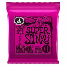 Ernie Ball 3 Pack Super Slinky Nickel Wound Electric Guitar Strings Gauge 9-42