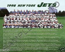 1998 NEW YORK JETS NFL FOOTBALL 8X10 TEAM PHOTO PICTURE