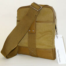 Calvin klein Bag NEW Mini Flat Crossover BAG Shoulder/Messenger Olive Nylon Bag