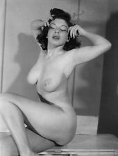 1960s Pinup Large Breasted Sally Lux Posing Nude 8 x 10 Photograph