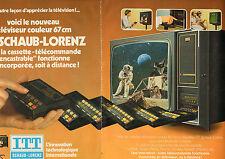 Publicité 1978  (Double page)  Téléviseur ITT SCHAUB LORENZ couleur