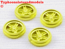 TEAM SLOT Lancia Stratos  Rear Wheel Inserts x 4 - Yellow Painted - E0109 - New