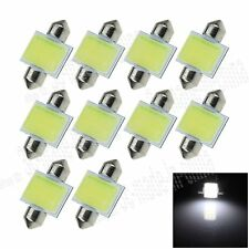 10X White 31MM 1 12 Chips COB Festoon Dome Map LED Light Bulb DE3425 I015