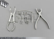 1 Set (11pcs) Rubber Dam Clamps,Forcep,Ainsworth Plier & Holder Dental,Surgical