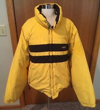 Nautica Competition Mens XXL 2XL Reversible Blue Yellow Puffer Coat Jacket Down